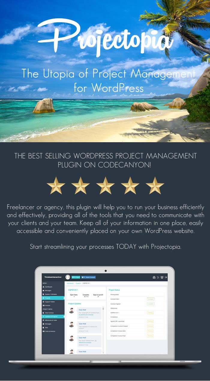 Projectopia - WordPress Project Management Plugin - 1