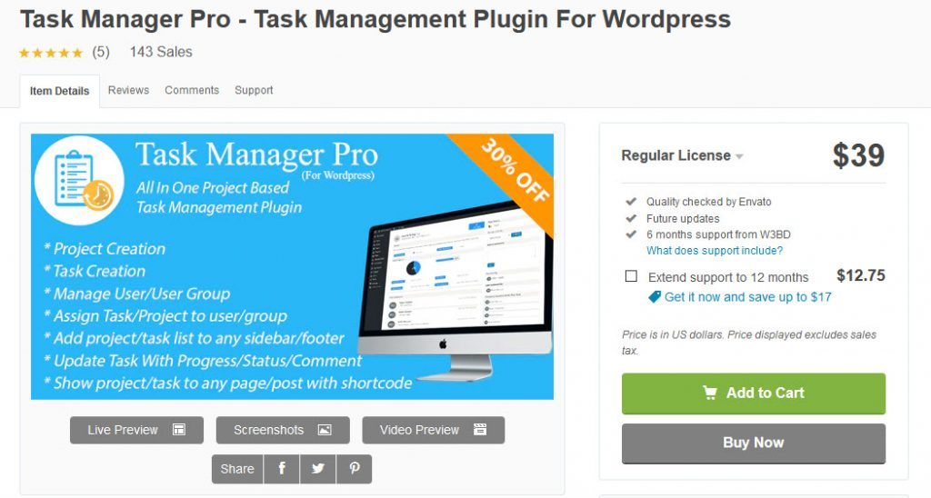 Best WordPress Project Management Plugins - Task Manager Pro