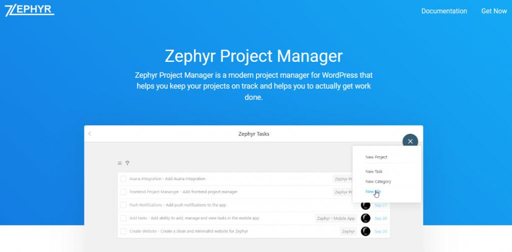 Best WordPress Project Management Plugins - zephyr
